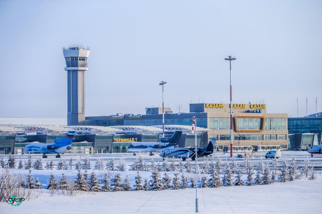 Аэропорт Казань зимой