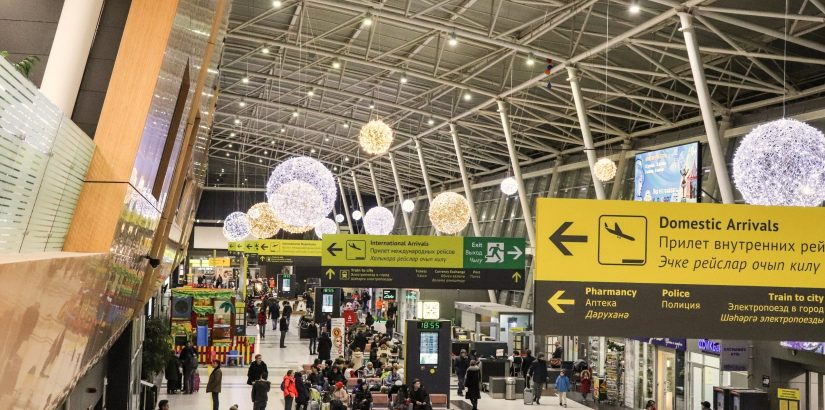 Новогодний аэропорт Казани